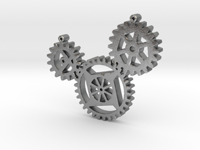 Steampunk gears in Natural Silver