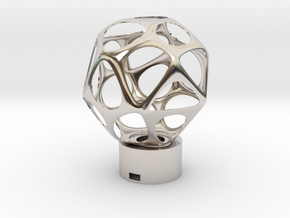 Lamp voronoi sphere1 in Rhodium Plated Brass