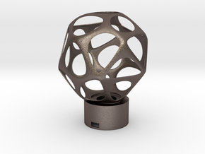 Lamp voronoi sphere1 in Polished Bronzed Silver Steel