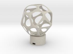 Lamp voronoi sphere1 in Natural Sandstone