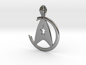 Khan Pendant - Star Trek in Fine Detail Polished Silver