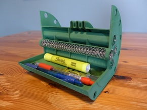 Shell and Tube Heat Exchanger Pen Holder in Green Processed Versatile Plastic
