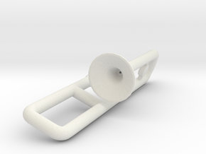Trombone for Minifigures in White Natural Versatile Plastic