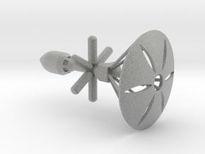 Spaceship (Type 02) - High Frontier in Metallic Plastic