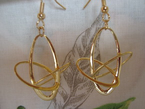 Three-Torus V4 Earrings in 18k Gold Plated Brass