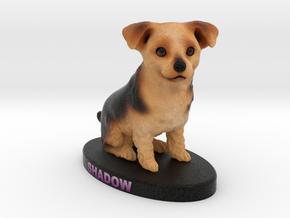 Custom Dog Figurine - Shadow in Full Color Sandstone