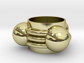 hydrogen cyanide Ring(13mm) in 18k Gold Plated Brass