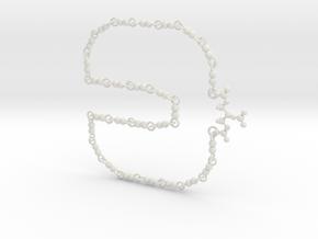 Nitroglycerin Necklace in White Natural Versatile Plastic