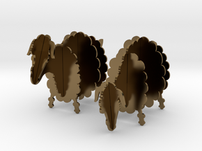 Wooden Sheep 1:24 in Polished Bronze