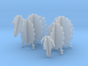 Wooden Sheep 1:48 in Smooth Fine Detail Plastic