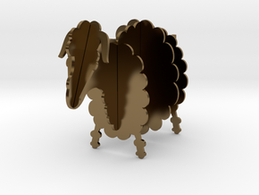 Wooden Sheep B 1:24 in Polished Bronze