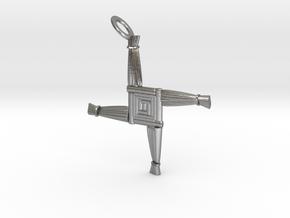 Brigid's Cross pendant in Natural Silver