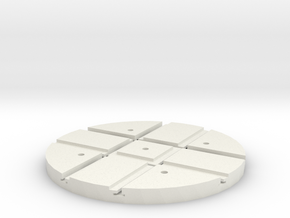 T-165-wagon-turntable-60d-100-1a in White Natural Versatile Plastic