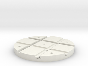 T-165-wagon-turntable-48d-100-1a in White Natural Versatile Plastic