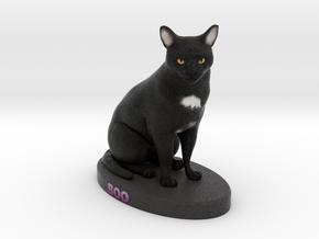 Custom Cat Figurine - Boo in Full Color Sandstone