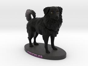 Custom Dog Figurine - Chuckles in Full Color Sandstone