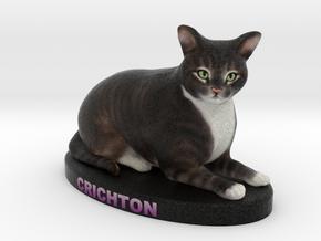 Custom Cat Figurine - Crichton in Full Color Sandstone