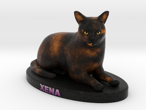 Custom Cat Figurine - Xena in Full Color Sandstone
