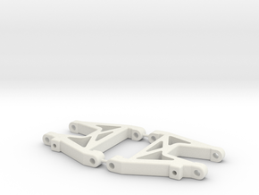 RC10DS Rear Arms (shorter) in White Strong & Flexible