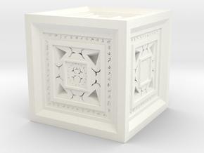 Strange Cube in White Processed Versatile Plastic