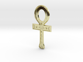 Rune Ankh in 18k Gold Plated Brass