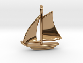 Large Sailboat Pendant in Polished Brass