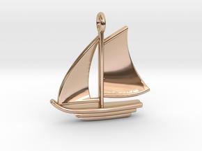 Sailboat Pendant in 14k Rose Gold