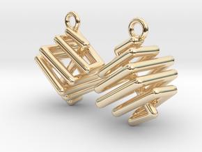 Ring-in-a-Cube-03-EarRings in 14k Gold Plated Brass