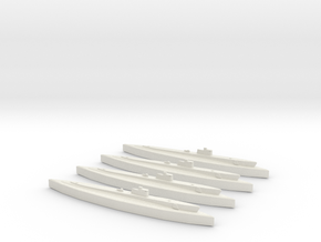 USS Silversides (SS 236) 1/1800 x4 in White Natural Versatile Plastic
