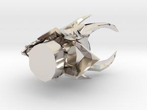 34618 in Rhodium Plated Brass