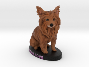 Custom Dog Figurine - Radar in Full Color Sandstone