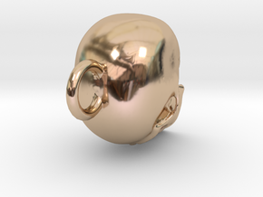 Skull  in 14k Rose Gold