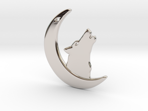 WolfMoon Earring in Rhodium Plated Brass