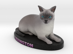 Custom Cat Figurine - Lexington in Full Color Sandstone