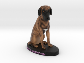 Custom Dog Figurine - MayaAviendha in Full Color Sandstone