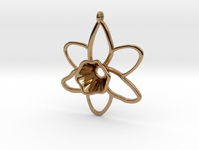 Daffodil Pendant for Necklace in Polished Brass
