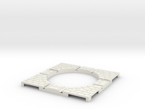 T-165-wagon-turntable-48d-100-corners-large-1a in White Natural Versatile Plastic