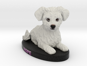 Custom Dog Figurine - Hope in Full Color Sandstone