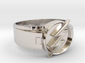 Flash Ring Size 10.5, 20.20mm in Platinum