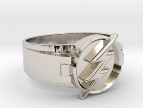 Flash Ring Size 10.5, 20.20mm in Rhodium Plated Brass