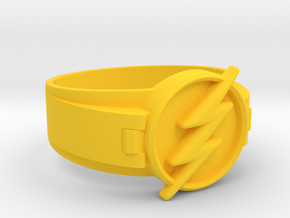 Flash Ring Size 10.5, 20.20mm in Yellow Processed Versatile Plastic