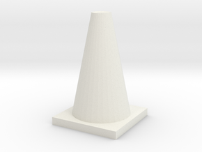 TrafficConeShapeways in White Strong & Flexible