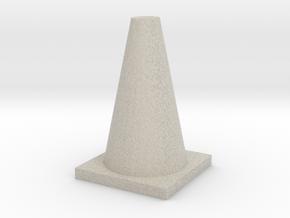 TrafficConeShapeways in Natural Sandstone