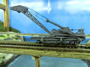 Nz120 (3/5) Craven 40-ton Steam Crane - Body in Frosted Extreme Detail