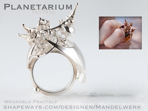 Planetarium Ring - 19.5mm in Polished Silver