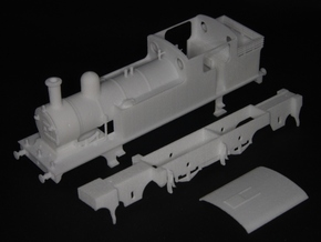 LNER class F5 2.4.2 tank loco in White Natural Versatile Plastic