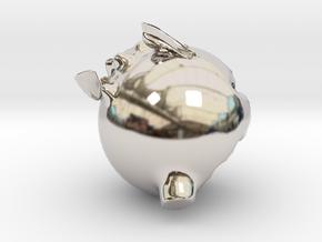 16065 in Rhodium Plated Brass