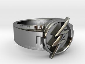 V2 Flash Ring Size 8, 18.19mm in Fine Detail Polished Silver