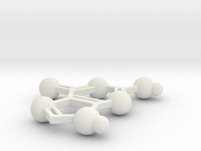 Guanine in White Natural Versatile Plastic