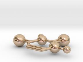 Uracil in 14k Rose Gold Plated Brass